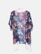 Kimono azul marino floral Azura