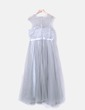Gray tulle party dress with rhinestones NoName