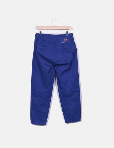 Pantalon de pinzas azul