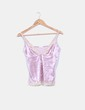 Top rose velours Oysho