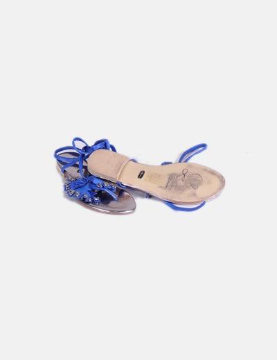 Sandalias azulon con tachas