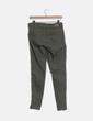 Pantalón pitillo con cremalleras verde Zara