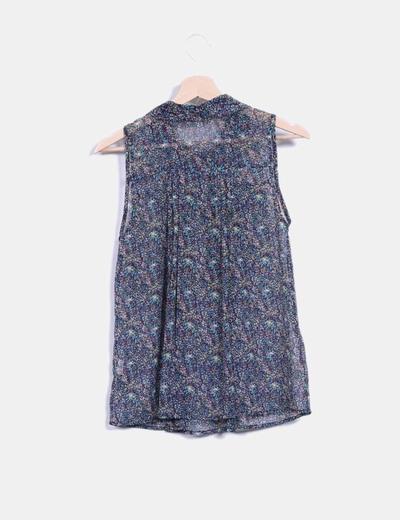 Blusa print floral multicolor