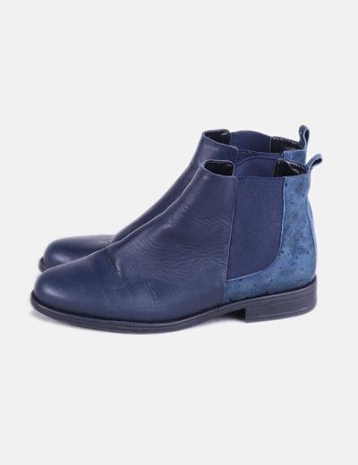 Bottines bleues marine NoName