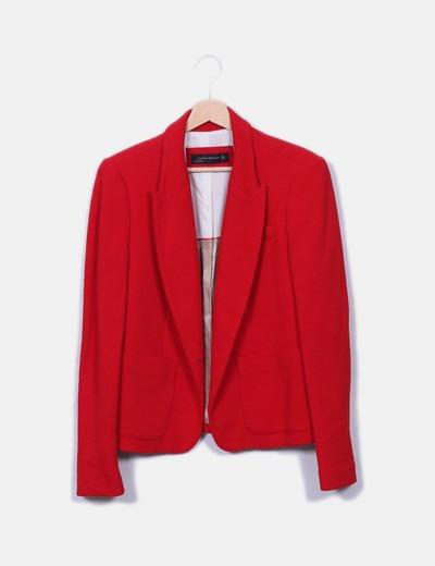 Blazer roja texturizada