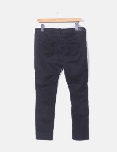 Boutique en ligne c5e04 18fd6 Pantalón negro de loneta