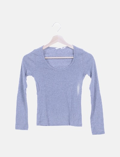 Camiseta básica gris