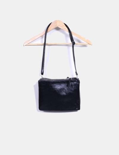 Bolso mini negro triple cremallera NoName