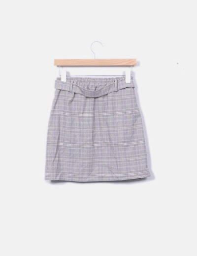 3b60de5acab NoName Mini falda cuadros gris (descuento 63 %) - Micolet