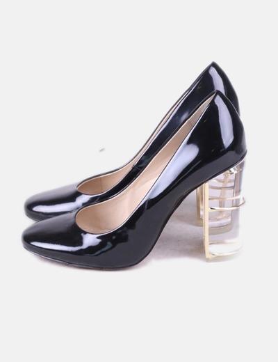 Negro Zapatos Zara Nw8px0ok Tacón Charol Cristaldescuento 63micolet gYb7fvmI6y