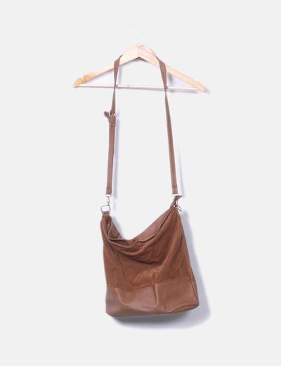 Bolso marrón combinado
