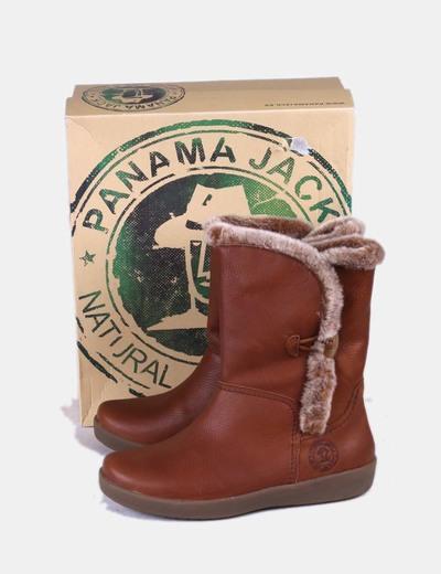 834205950 Panama Jack Bota marrón media caña con pelo (descuento 74%) - Micolet