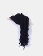Bufanda negra con flecos NoName