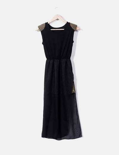 Vestido combinado asimétrico NoName