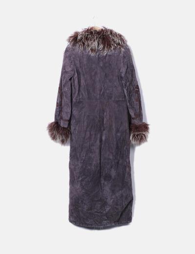 Abrigo largo con borrego interior