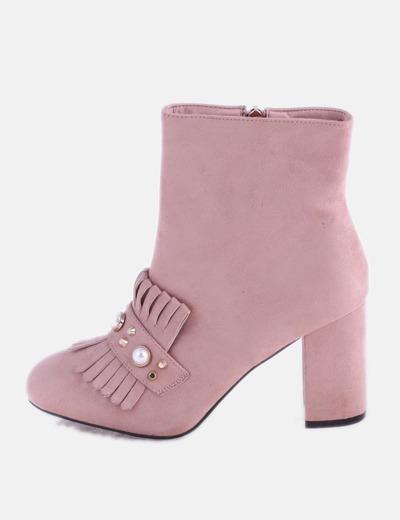 Botín rosa perlado