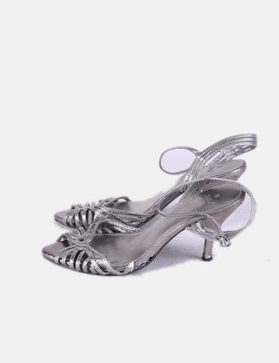 Sandales argentées Zara