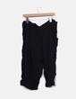 Pantalón fluido negro culotte Zara