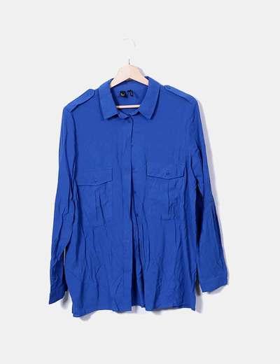 Chemise bleue Mango