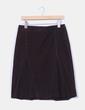 Falda midi marrón de micropana  Zara