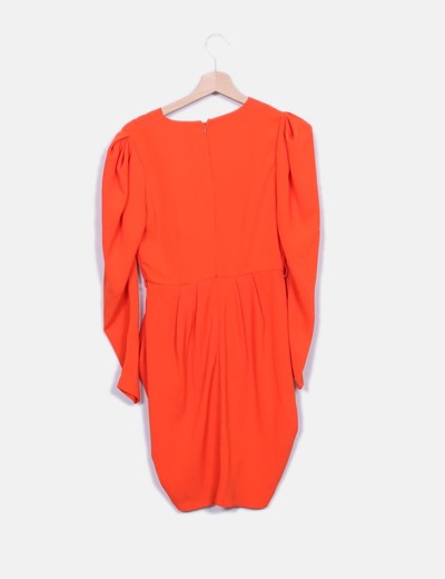 Vestido midi naranja
