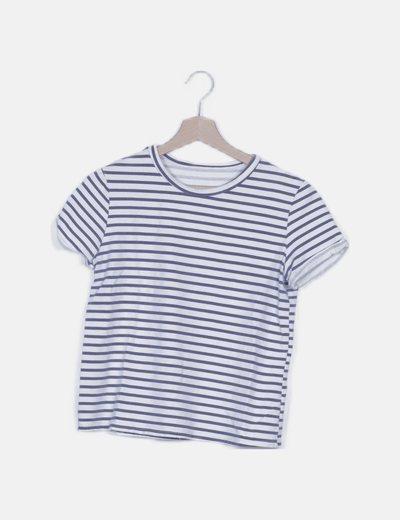 Camiseta blanca de rayas
