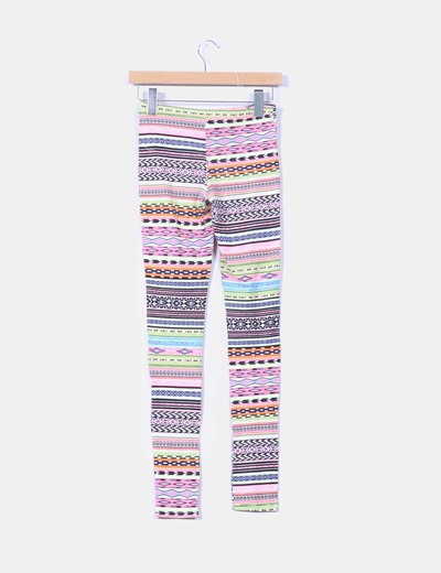 Leggings multicolor estampado