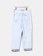 Jeans denim recto azul claro floral H&M