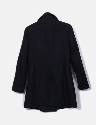 Abrigo paño negro cremallera lateral