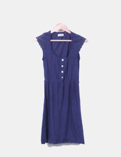 Vestido azul marino Pull&Bear
