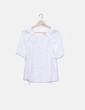 Blusa blanca fluida Massimo Dutti