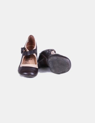 Zapato bicolor punta redonda