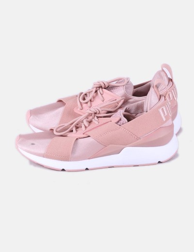 Pink satin muse sneakers Puma