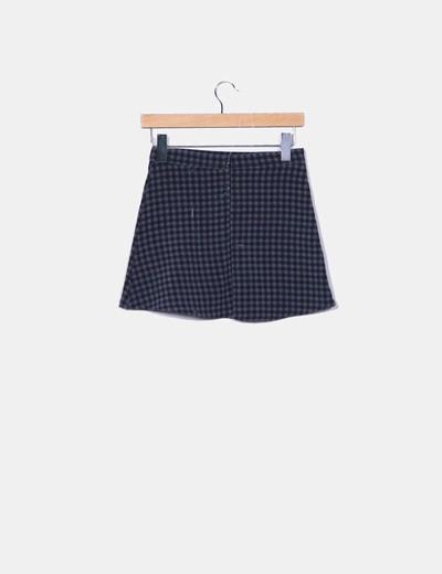 Mini falda cuadros gris