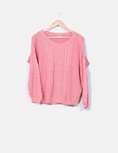 Jersey de punto rosa Suiteblanco