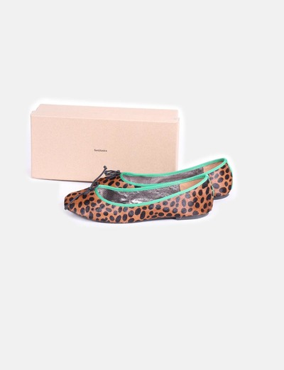 Bailarina print leopardo con pelo  Fun&Basics