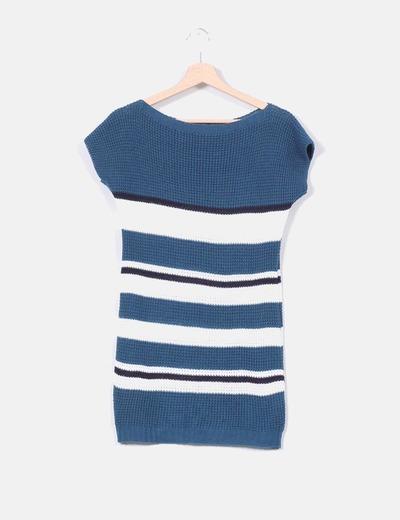 Jersey manga corta de punto tricolor NoName