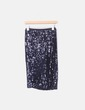 Falda midi paillettes negro Zara