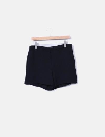 Pantalón corto negro Mango