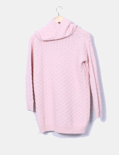 H M Pull rose pale en maille oversize (réduction 79%) - Micolet 3197e3fd2ed5