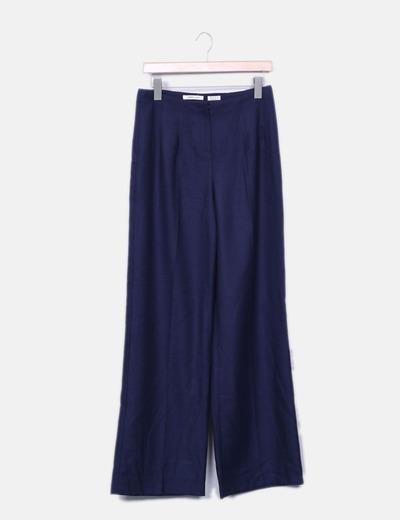 fac9f8d111 Suiteblanco Pantalón fluido azul marino textura (descuento 79 ...