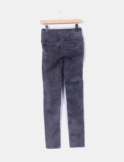 Pantalon gris elastico
