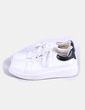 Chaussures blanches de plate-forme Shana