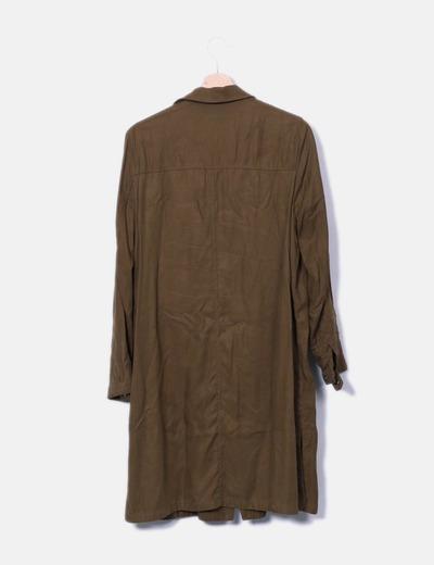 seleccione para auténtico estilo máximo últimos lanzamientos Vestido camisero verde kaki
