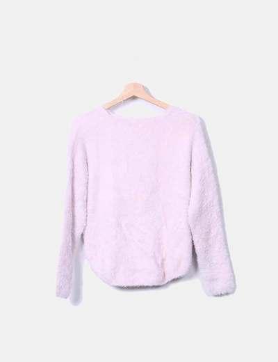 Jersey pelo rosa pastel