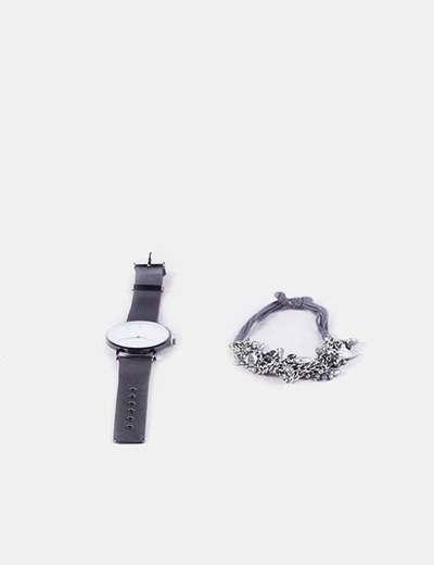 Montre pack et bracelet en métal Sfera