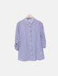 Camisa con estampado azul y blanco Primark