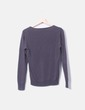 Pull gris col v William de faye
