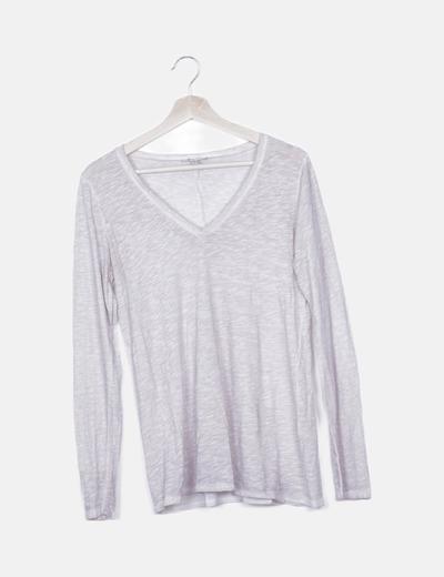 Camiseta beige manga larga