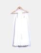 Vestido blanco troquelado Stradivarius